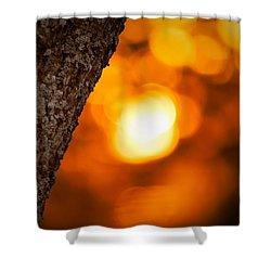 Sunset Bokeh Shower Curtain