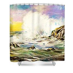 Sunset Breakers Shower Curtain