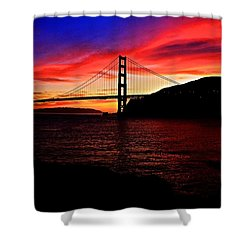 Shower Curtain featuring the photograph Sunset By The Bay by Dave Files