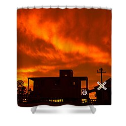Sunset Caboose Shower Curtain
