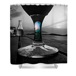 Shower Curtain featuring the photograph Sunset Cafe by Micki Findlay