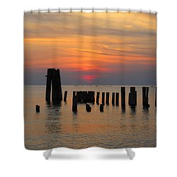 Sunset Cape Charles Shower Curtain by Richard Reeve