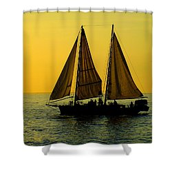 Sunset Celebration Shower Curtain by Karen Wiles