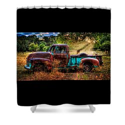 Sunset Chevy Pickup Shower Curtain