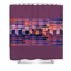 Sunset City Shower Curtain by Ben and Raisa Gertsberg
