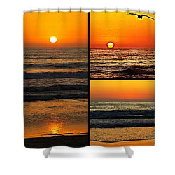Sunset Collage Shower Curtain by Sharon Soberon