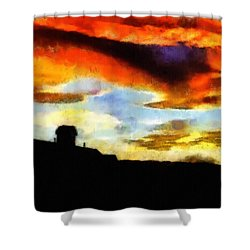 Sunset Colours Shower Curtain by Ayse and Deniz