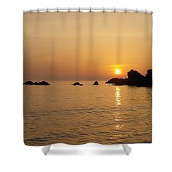 Sunset Crooklets Beach Bude Cornwall Shower Curtain