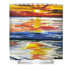 Sunset Day 1 Shower Curtain