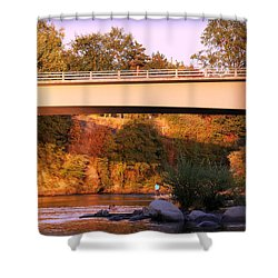 Shower Curtain featuring the photograph Sunset Dip by Melanie Lankford Photography