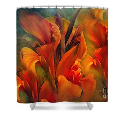 Sunset Shower Curtain by Elaine Manley