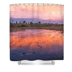 Everglades Afterglow Shower Curtain