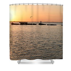 Sunset Fish Shower Curtain