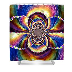 Sunset Fractal Shower Curtain