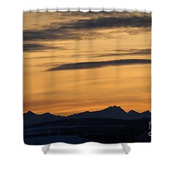Shower Curtain featuring the photograph Sunset From 567 by Ann E Robson