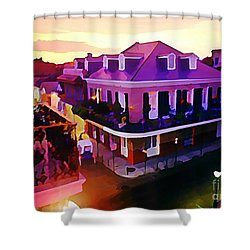 Sunset From The Balcony In The French Quarter Of New Orleans Shower Curtain by John Malone