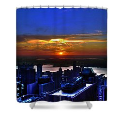 Sunset From The Empire State Building Shower Curtain by Randy Aveille