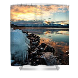 Sunset Frozen Shower Curtain by Aaron Aldrich