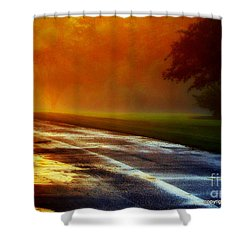 Sunset Glint In The Mist Shower Curtain
