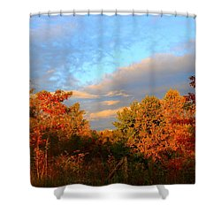 Shower Curtain featuring the photograph Sunset Glow by Kathryn Meyer
