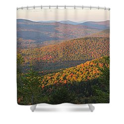 Sunset Glow Over The Autumn Landscape Shower Curtain