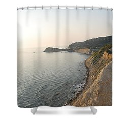 Shower Curtain featuring the photograph Sunset Gourna by George Katechis