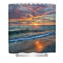 Shower Curtain featuring the photograph Sunset Gulf Islands National Seashore by Tim Fitzharris