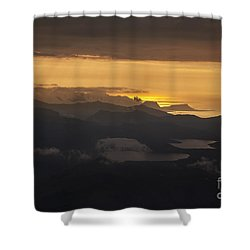 Sunset Shower Curtain by Gunnar Orn Arnason