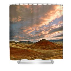 Sunset Hill Shower Curtain by Sonya Lang