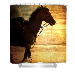 Sunset Horse Shower Curtain by Loriental Photography