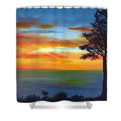 Sunset IIi Shower Curtain by Dottie Kinn