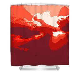 Shower Curtain featuring the digital art Sunset by I'ina Van Lawick