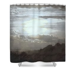 Shower Curtain featuring the photograph Sunset Impressions Over The Blue Ridge Mountains by Photographic Arts And Design Studio