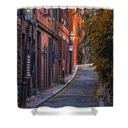 Sunset In Beacon Hill Shower Curtain by Joann Vitali