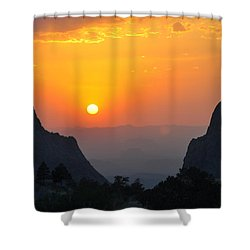 Sunset In Big Bend National Park Shower Curtain