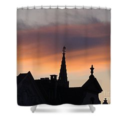 Sunset In Brussels Shower Curtain