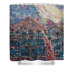 Sunset In California Shower Curtain