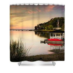 Sunset In Centerport Shower Curtain