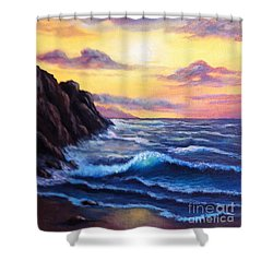Sunset In Colors Shower Curtain
