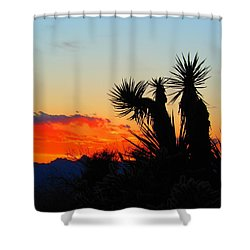 Sunset In Golden Valley Shower Curtain