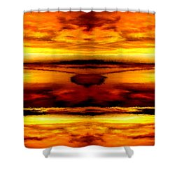 Sunset In Heaven Shower Curtain by Bruce Nutting
