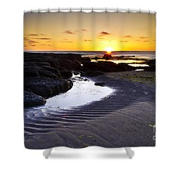 Sunset In Iceland Shower Curtain by Gunnar Orn Arnason