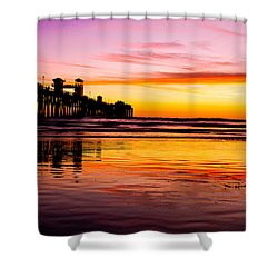 Sunset In Oceanside Shower Curtain