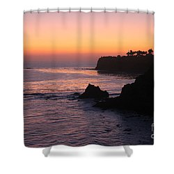 Sunset In Paradise Shower Curtain by Bev Conover
