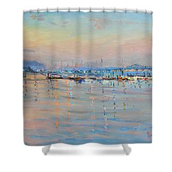 Sunset In Piermont Harbor Ny Shower Curtain