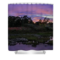 Sunset In Purple Along Highway 7 Shower Curtain by Peter v Quenter