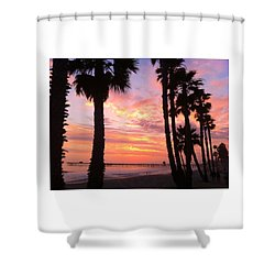 Sunset In San Clemente Shower Curtain