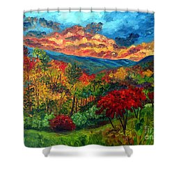 Sunset In Shenandoah Valley Shower Curtain