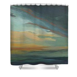 Sunset In St. Petersburg Shower Curtain