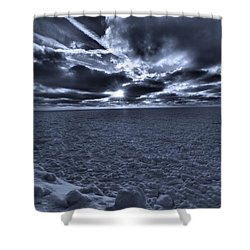 Sunset In The Arctic Shower Curtain by Dan Sproul